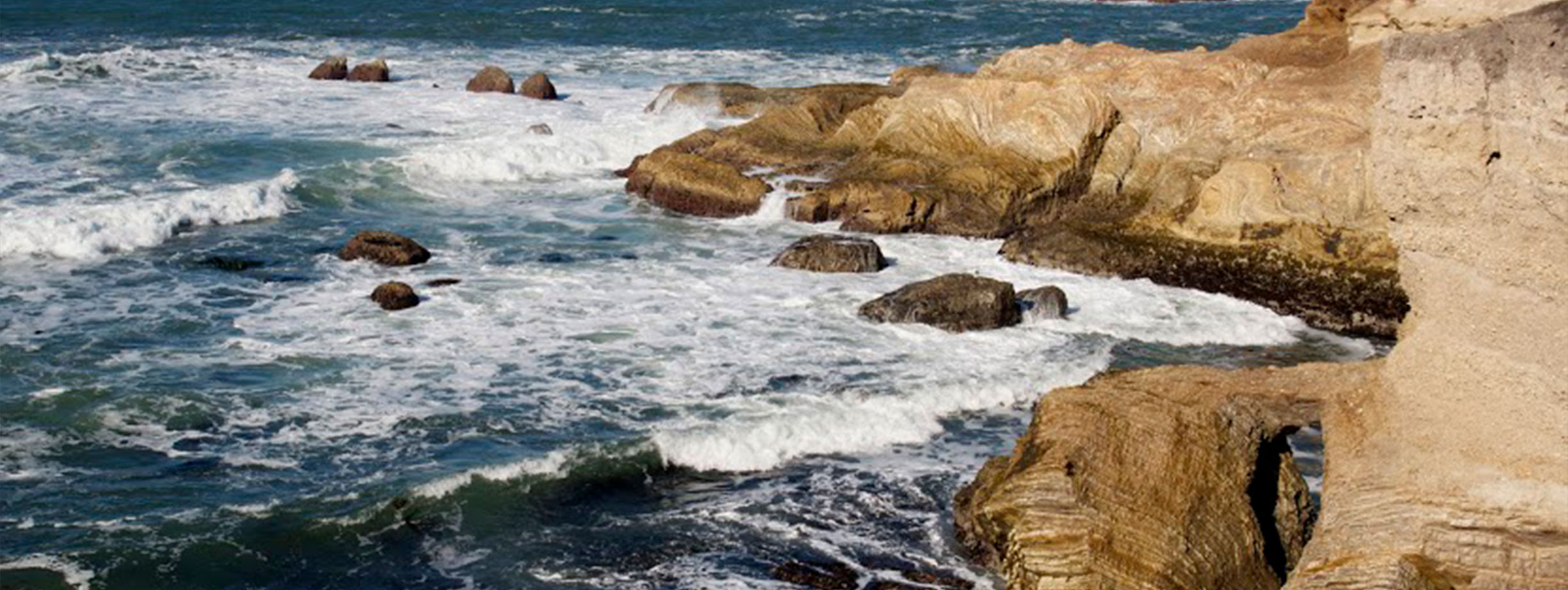 Photo of the rocky coast in Santa Barbara County.