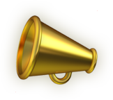 Emoji icon of a megaphone.