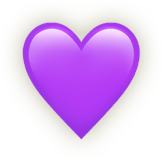 Emoji icon of a purple heart.